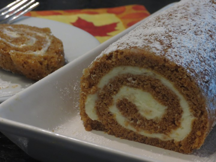 Pumpkin Roulade with Ginger Buttercream