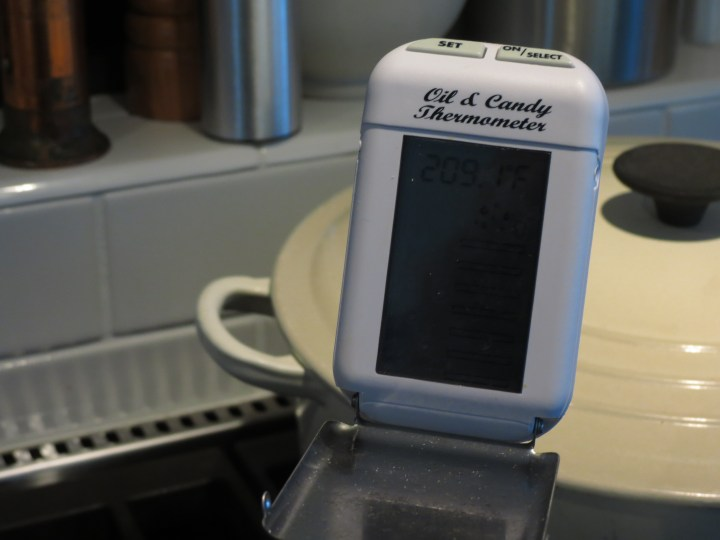 Thermometer in Cappucino Fudge Mixture