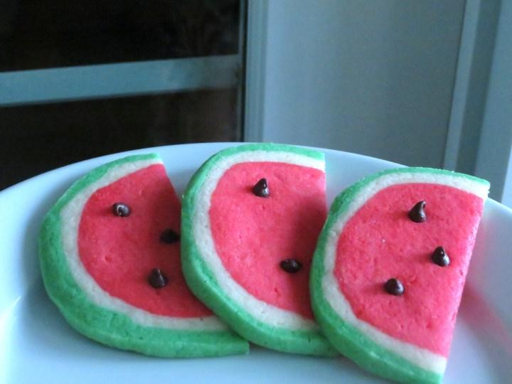 Watermelon Cookie Trio