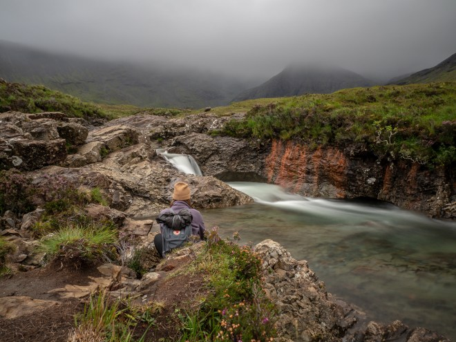 Pause bei den Fairy Pools