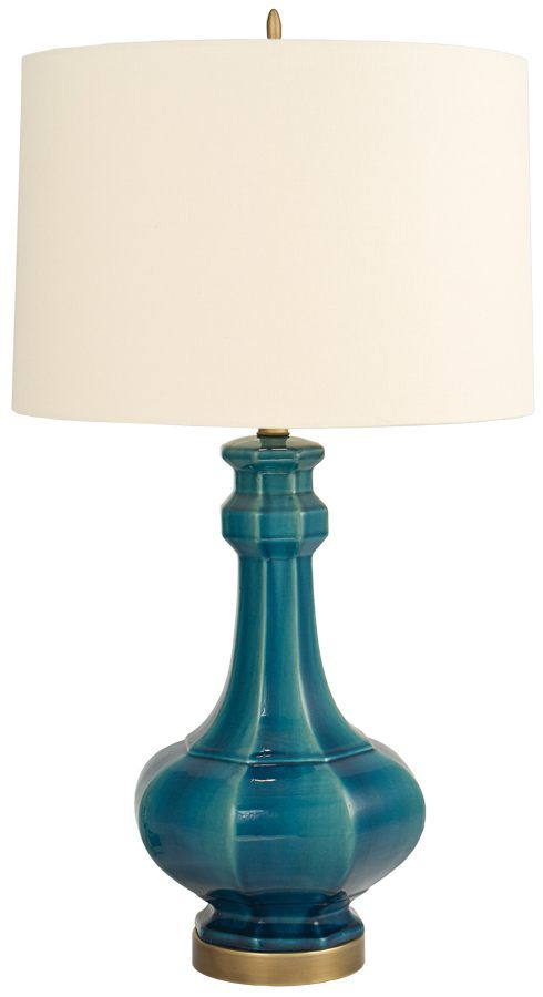 Love the pop of color in this lamp.