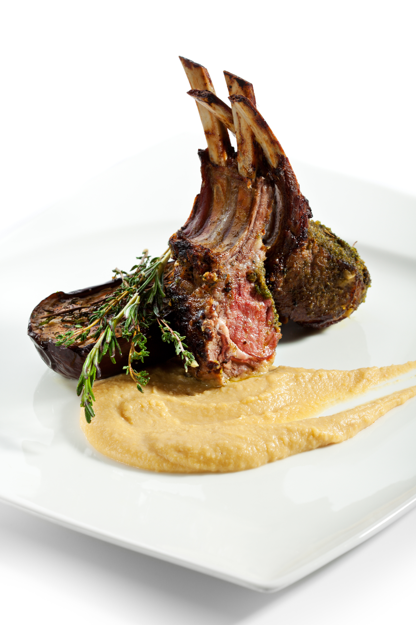 Grilled Rack of Lamb with Vegetables Sauce