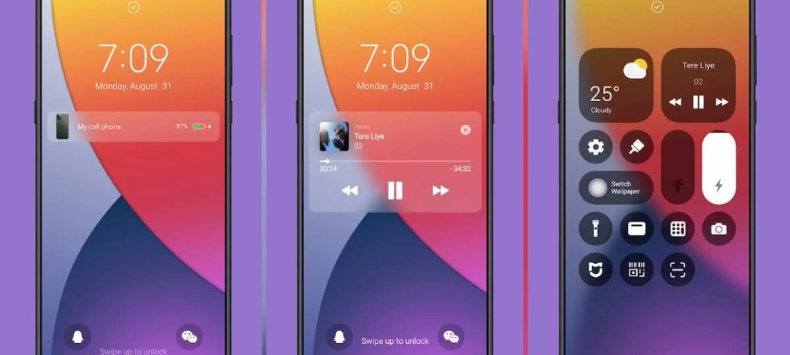 M12-pro-MIUI-11-Theme-with-iOS-style-Control-Center