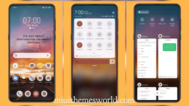 Road - Sunset_3MDS MIUI 11 Theme with Animated Charging