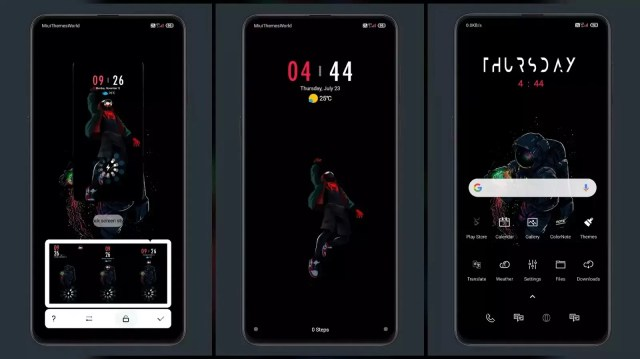 Dark Red MIUI 11 Theme | Lock Screen Customization