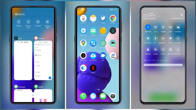 Maxman MIUI 12 Like Control Centre Themes for MIUI 11