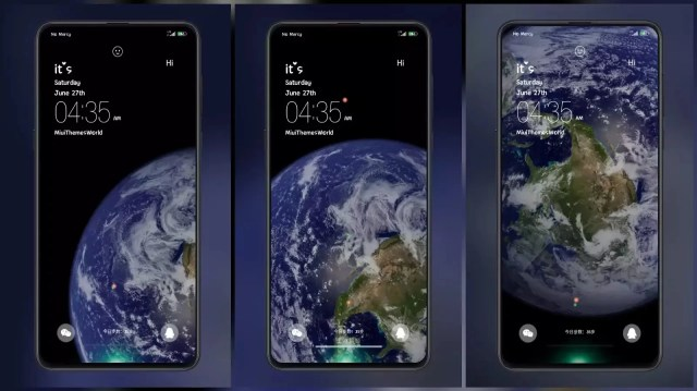 The Earth MIUI Theme with Amazing Earth Live Wallpaper