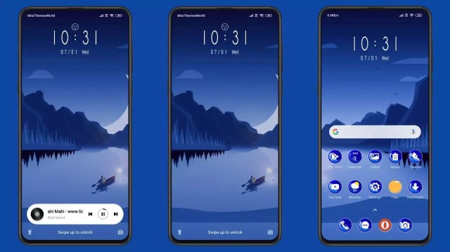 MountainRiver_3MDS MIUI 11 Theme   Feel The Blue