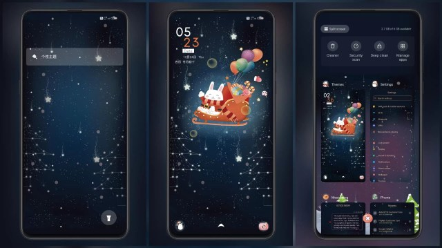 Bunny-for-Christmas-MIUI-Theme-with-Dynamic-Lock-Screen