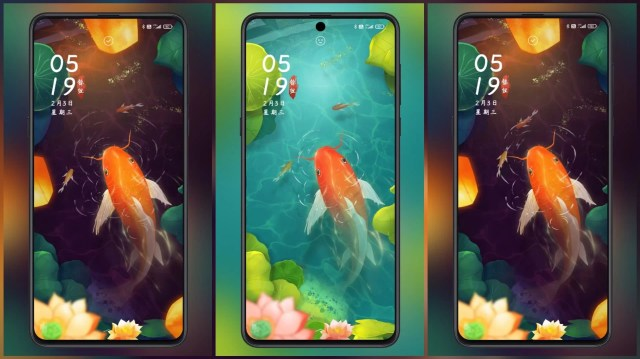 Golden-years-MIUI-Theme-with-Fish-Animated-Lock-Home-Screen
