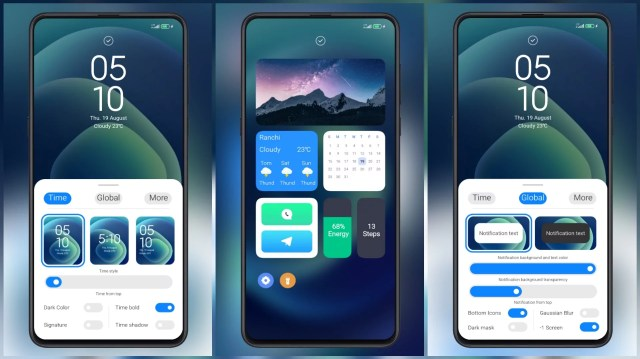 PROJECT-GRADIENT-MIUI-Theme-with-Customizable-Clock-Style