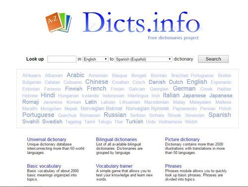 dictsinfo screenshot