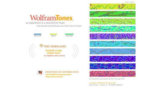 wolfram tones screenshot
