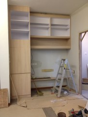 Built-ins at the study area. Some power points within the cabinets are missing though.
