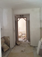 This is from inside the kitchen, looking out towards the living area
