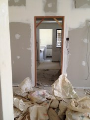 This is our new kitchen entrance, looking from the living ahrea