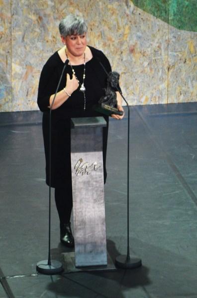 """Covadonga Berdiñas recolle o premio á mellor Interpretación Feminina de Reparto por """"Dalia, a modista"""""""