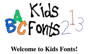 KidsFonts shareware learning fonts