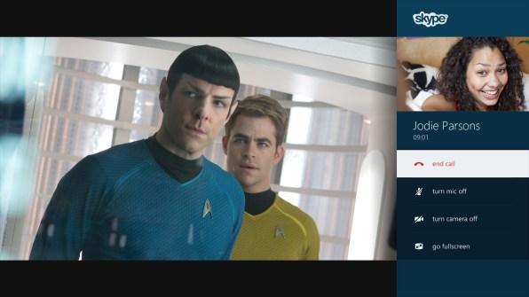 Skype en Modo Snap junto a Star Trek