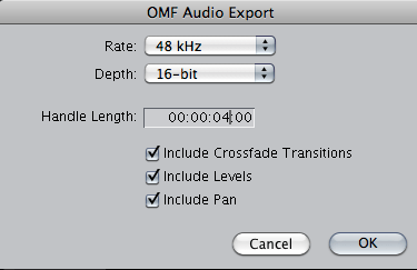 Finalcut-OMF settings