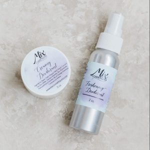 pair of all natural deodorant pit paste and spray deodorant