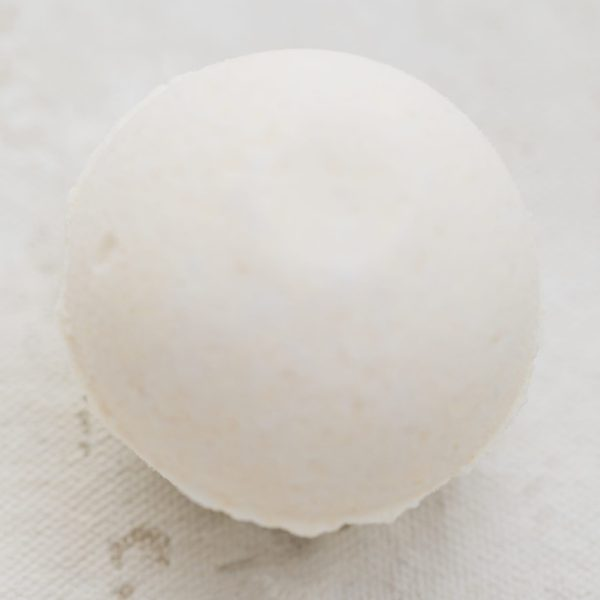 Lemon ginger bath bomb two toned with yellow and white