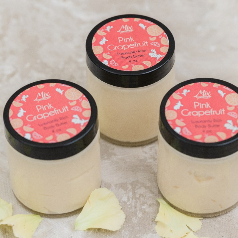"""Rich results on Google's SERP when searching for """"organic body butter"""" pink grapefruit luxuriantly rich body butter"""