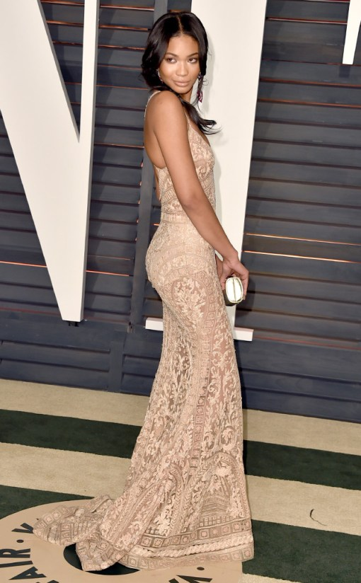 Chanel Iman vestido after party oscar 2015