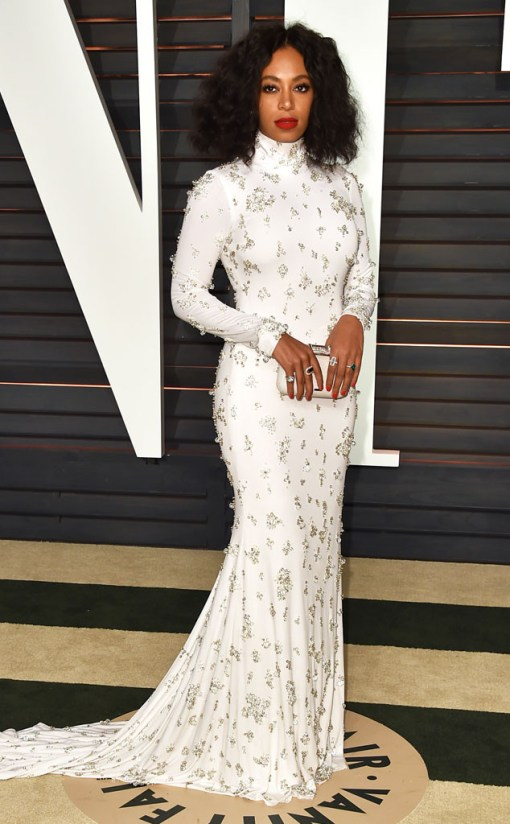 Solange Knowles vestido after party oscar 2015