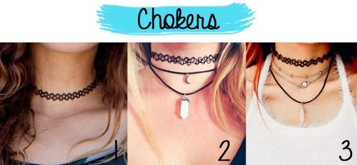 Chokers formas de usar