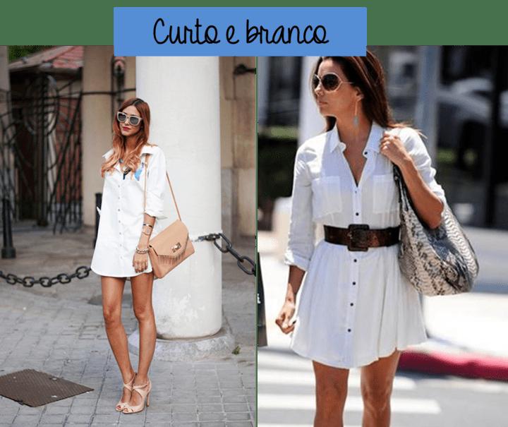 tendência shirtdress vestido camisa branco