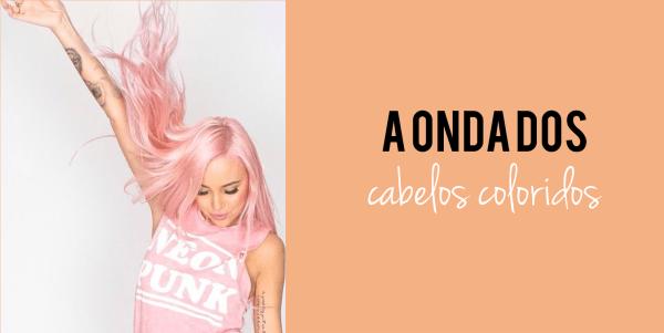 a onda dos cabelos coloridos rosa claro