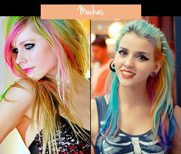 cabelos coloridos mechas