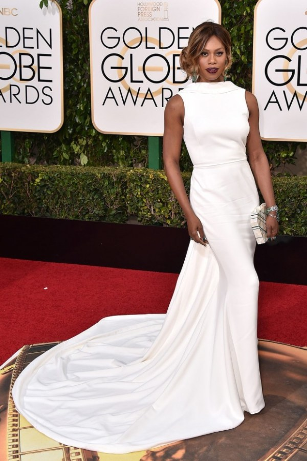 look golden globe awards 2016 Laverne Cox
