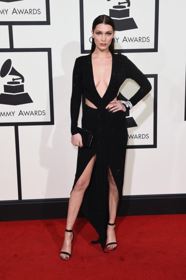 Bella Hadid Look Grammy awards 2016