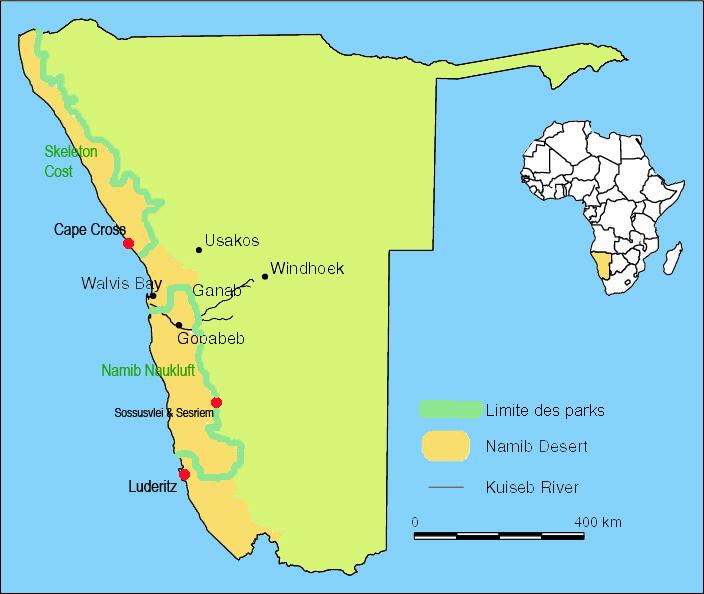 desertul namib-harta
