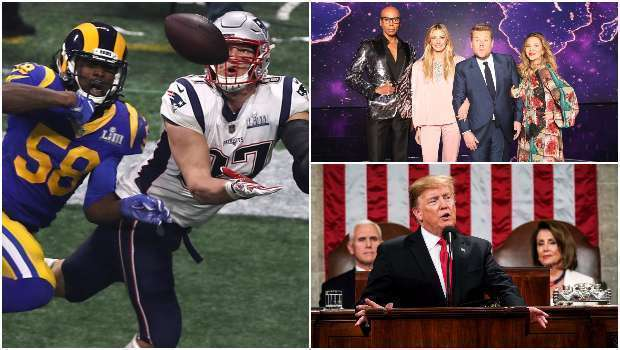 Análise de Audiência, Audiência, Análise, Super Bowl LIII, The World's Best, State of The Union