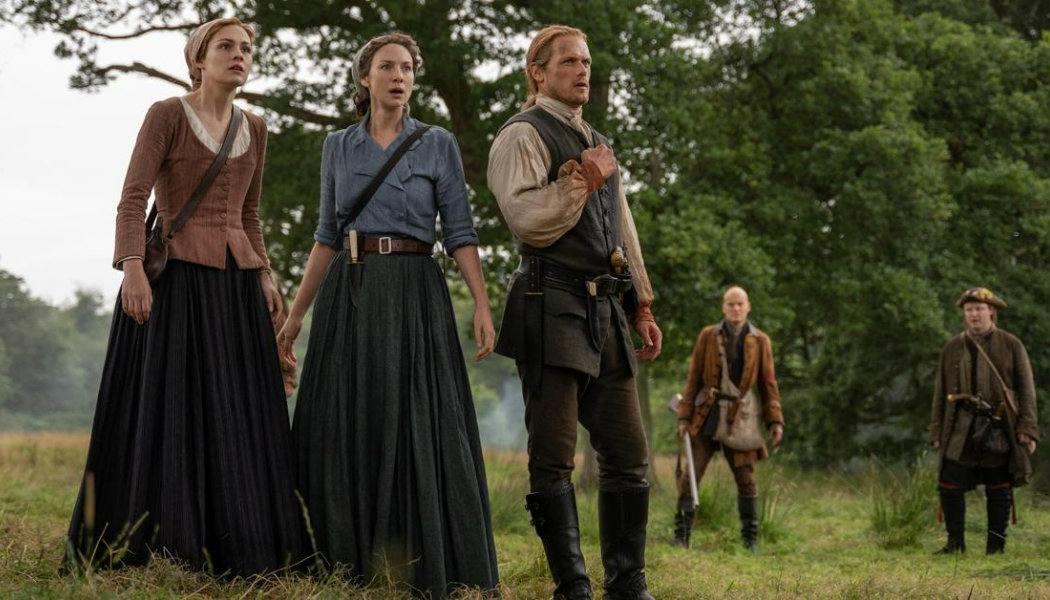 Jamie, Claire e Bree no episódio 5x07 de Outlander