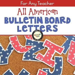 All American Bulletin Board Letters