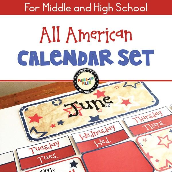 All American Calendar Set