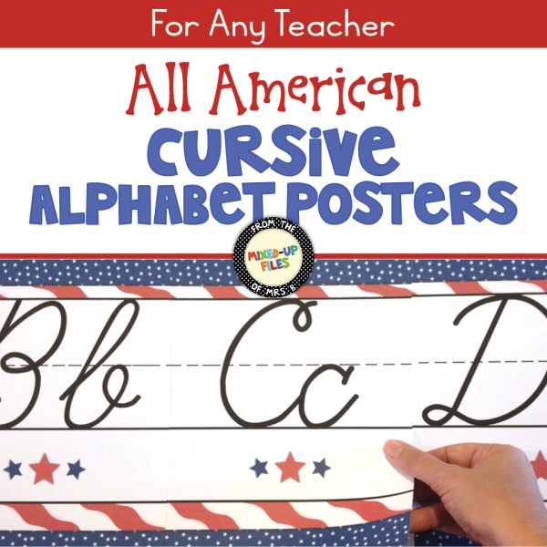 All American Cursive Alphabet Posters