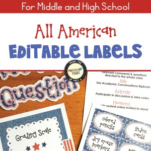 All American Editable Labels