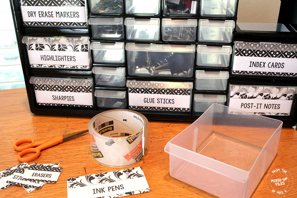 teacher toolbox labels black and white