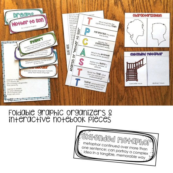 Foldable graphic organizers for interactive notebook