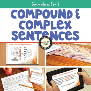 Writing Compound and Complex Sentences - autumn bundle