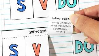 Parts of Speech Interactive Notebook video preview link to youtube