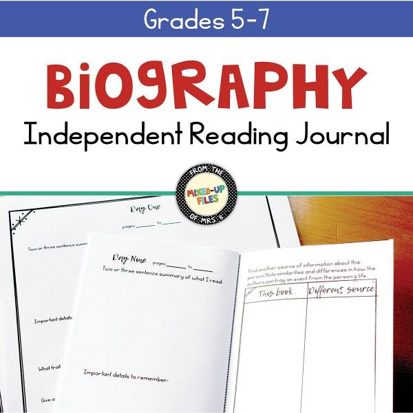 Biography Independent Reading Journal