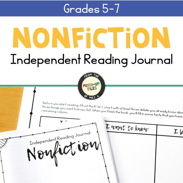 Independent Reading Journal Nonfiction