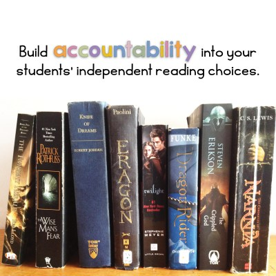 Build accountability in your students' independent reading choices.