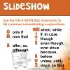 Complex Sentences slideshow example page